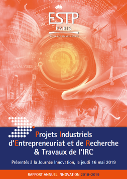 Rapport Innovation PIER ESTP Paris, 2018-2019